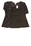 NEW White House Black Market Women's Top Medium Black