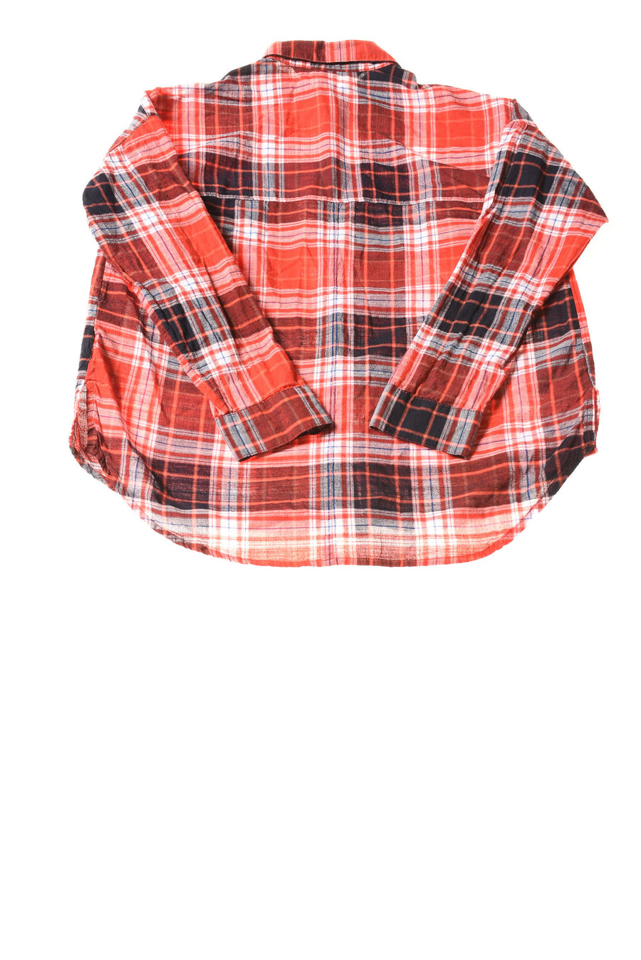 USED Old Navy Women's Petite Top Medium Red / Plaid
