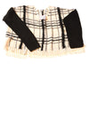 NEW Bisou Bisou Women's Sweater X-Large Ivory & Black / Plaid