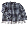 USED Norton McNaughton Women's Top 14 Blue / Plaid