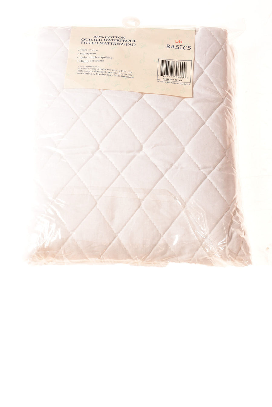 NEW BB Basics Baby Mattress Pad N/A White