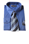 USED Milano Moda Men's Shirt 18-18.5 Blue