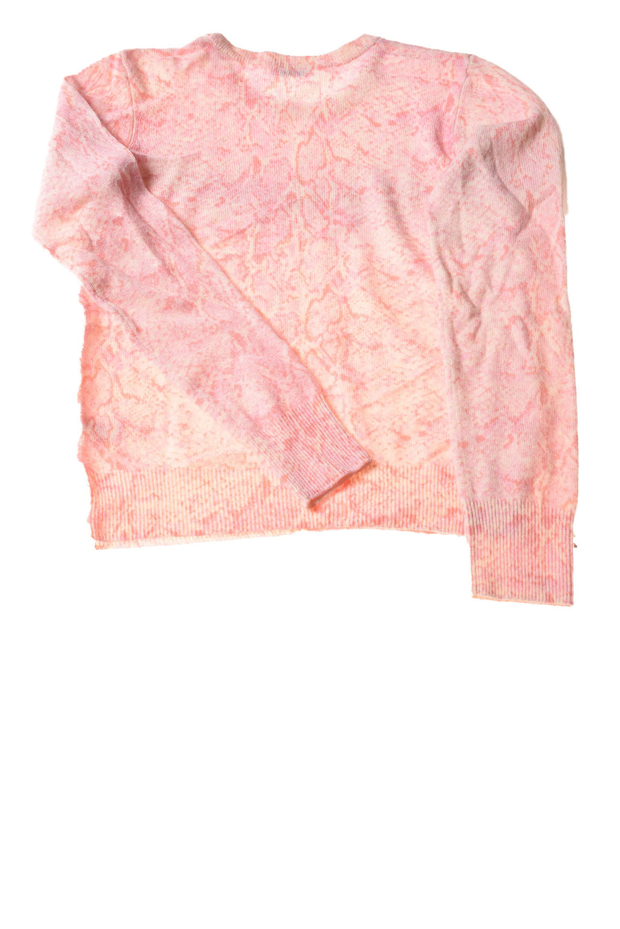 USED Equipment Femme Women's Sweater Small Pink /Print