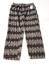 NEW Bottoms Up Men's Sleep Pants X-Large Gray & Black / Print