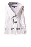 NEW Damon Men's Shirt 3X Blue & White