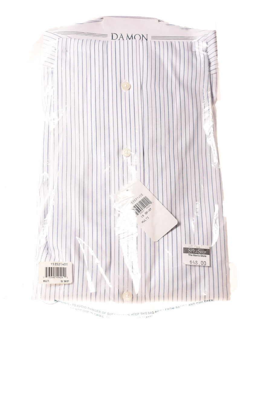 NEW Damon Men's Shirt 19 Blue & White