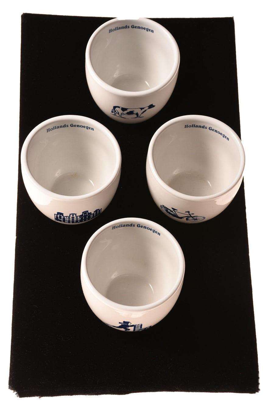 USED Hollands Serving Cups N/A White