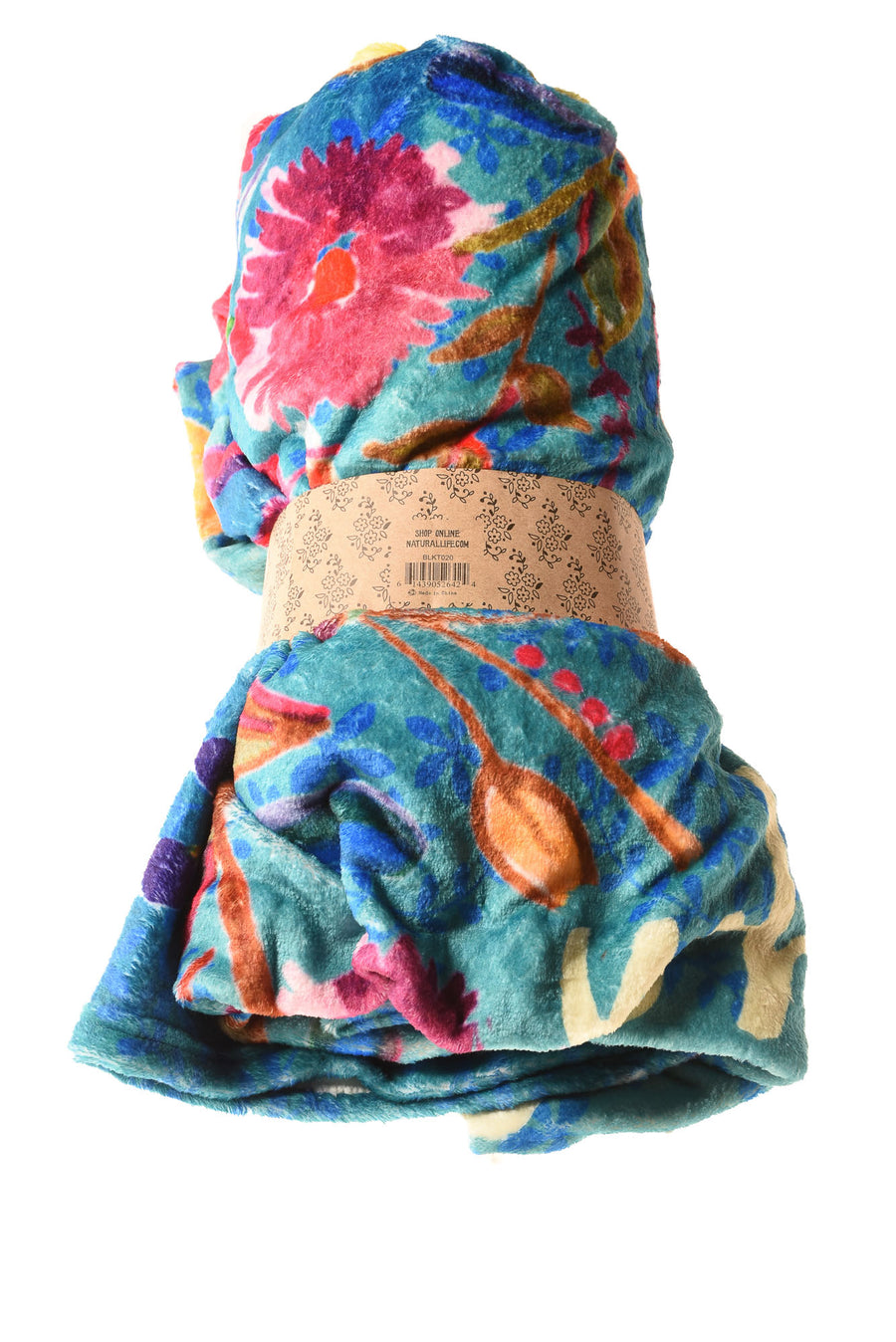 NEW Natural Life Blanket N/A Multi-Color / Floral