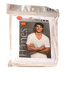 NEW Hanes Men's V-Neck Medium White