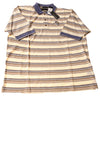 NEW Greg Norman Men's Shirt Large Tan / Striped