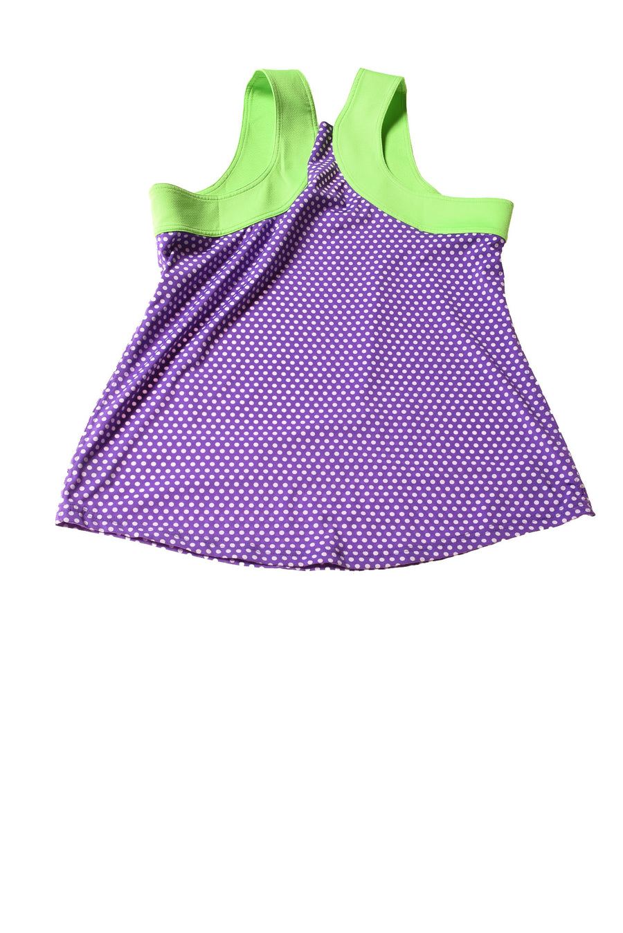 USED Jo Fit Women's Top X-Large Purple / Polka Dot