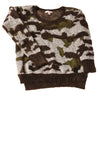 USED G.B Women's Sweater X-Small Army Print