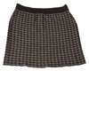 USED Willi Smith Women's Skirt Medium Gray & Black / Houndtooth