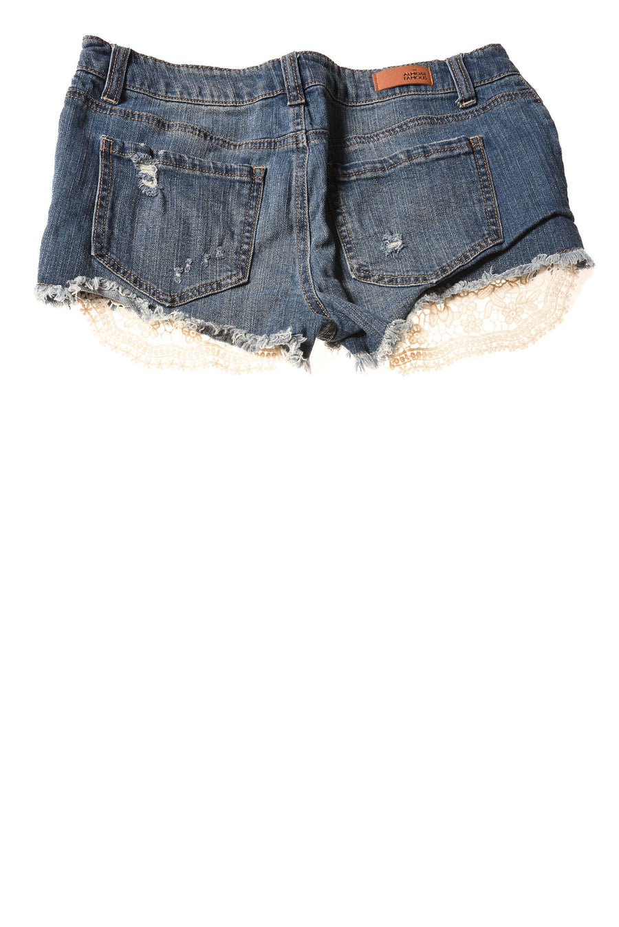 USED Almost Famous Women's Shorts 7 Blue