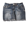 USED Justice Jeans Girl's Skirt 8 Blue