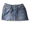 USED Justice Jeans Girl's Skirt 12 Blue