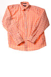 USED Lands' End Women's Top 16 Orange
