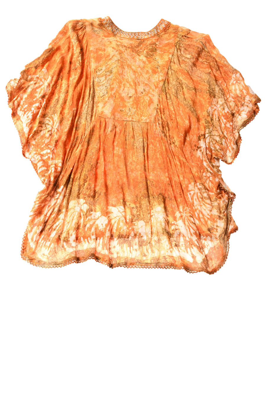 USED Fashion Telmihal Women's Top One Size Orange