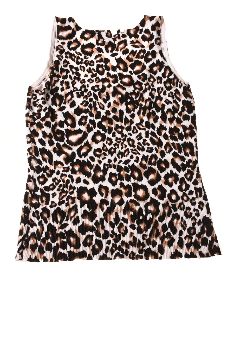 USED White House Black Market Women's Top Small Black & Brown / Animal Print