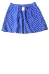 NEW J.Crew Women's Skirt 4 Blue & Polka Dot Print