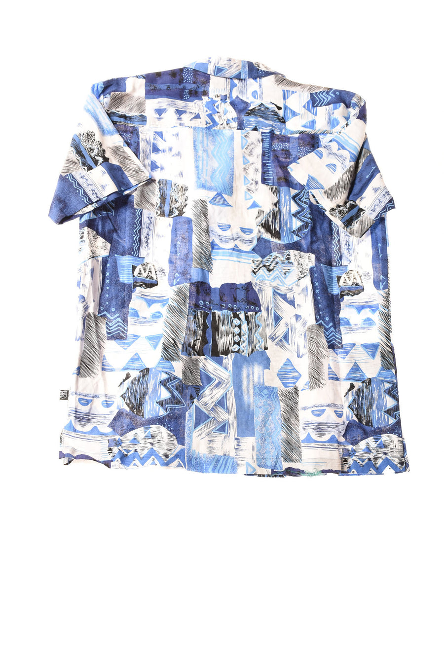 USED Stacy Adams Men's Shirt Medium Blue / Print