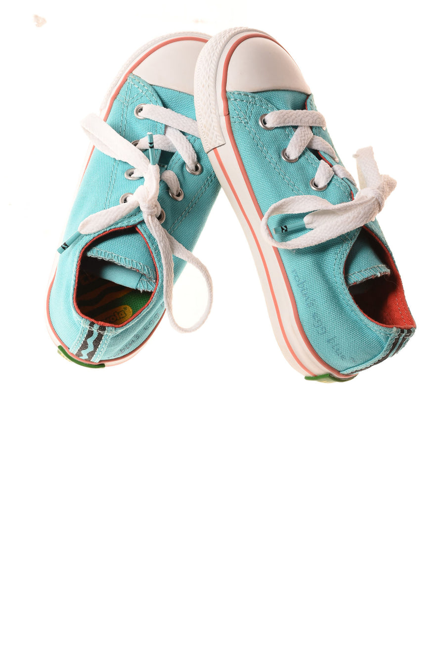 USED Converse Girl's Shoes 9 Robin Egg Blue