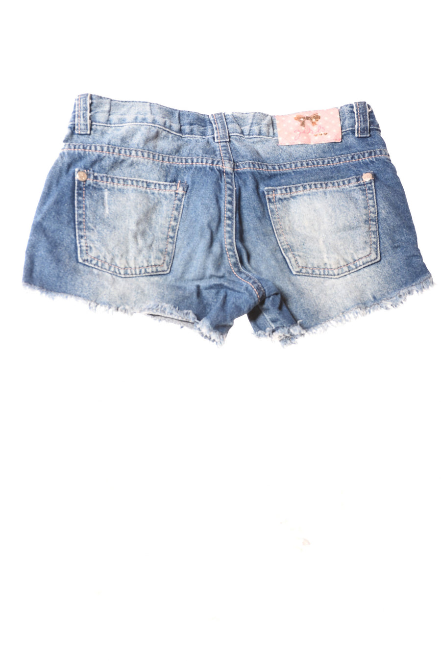 USED Denim Girl's Girl's Shorts 10 Blue / Print