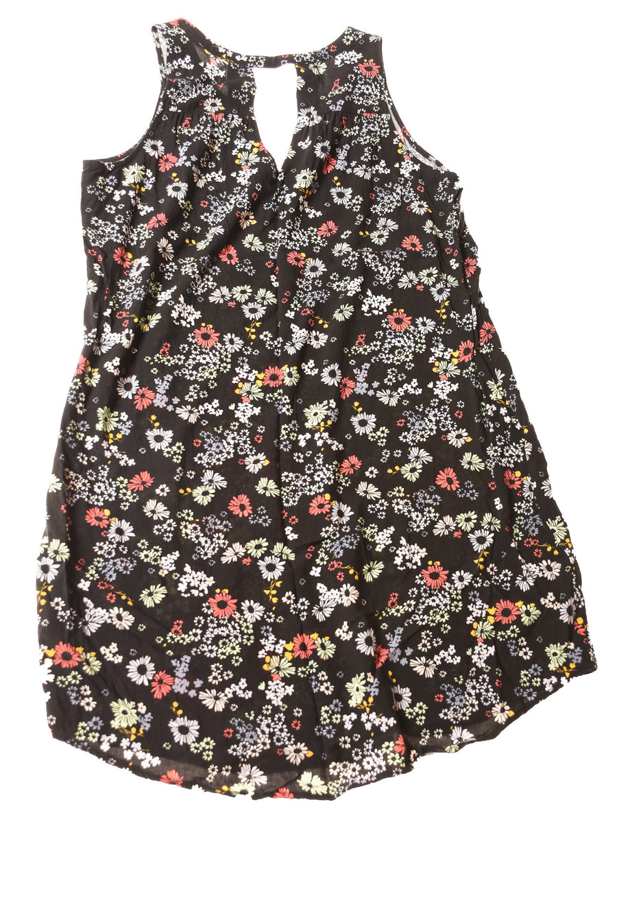 USED Old Navy Women's Dress Medium Black / Floral