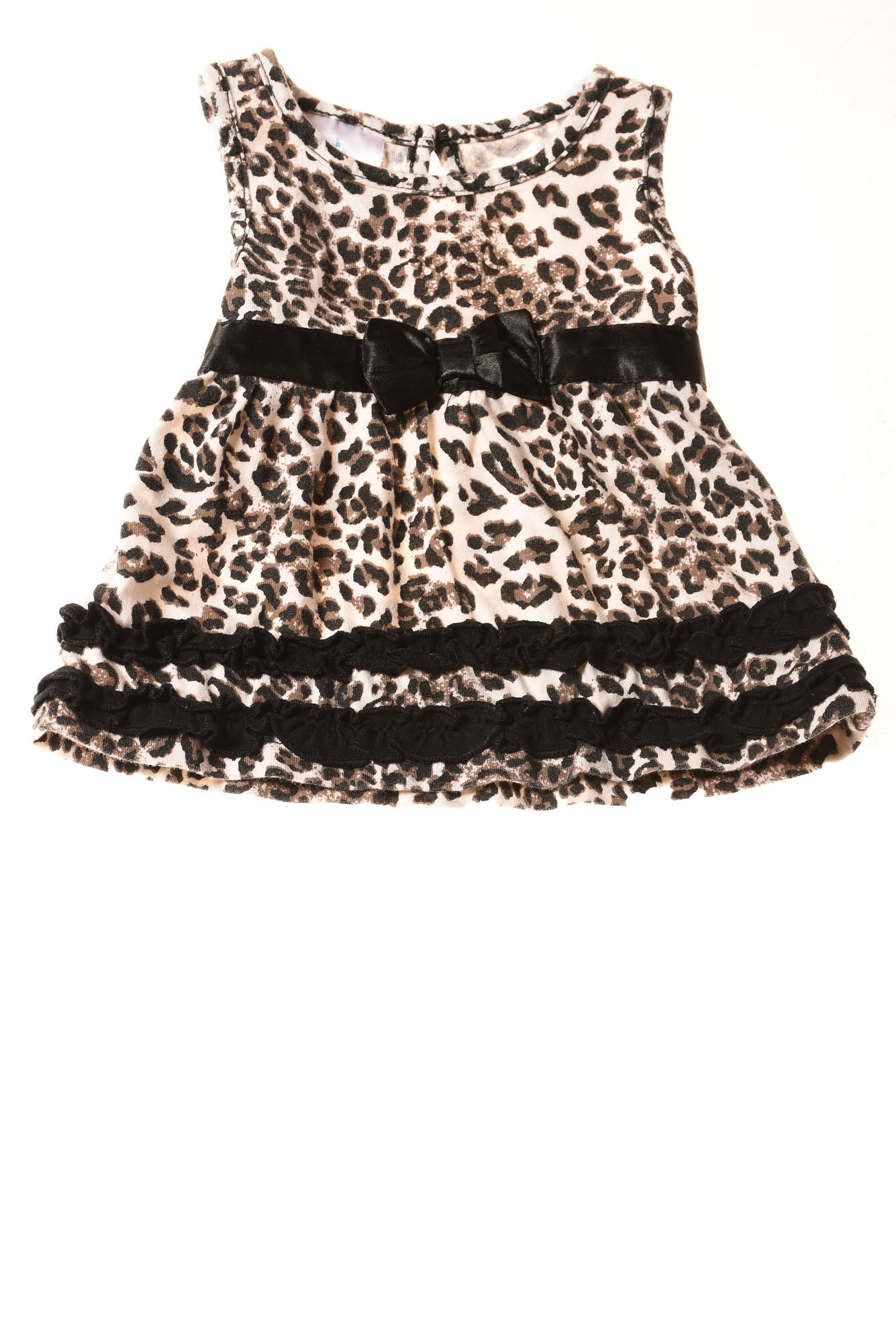 used small wonders baby girl s dress 0 3 months white black