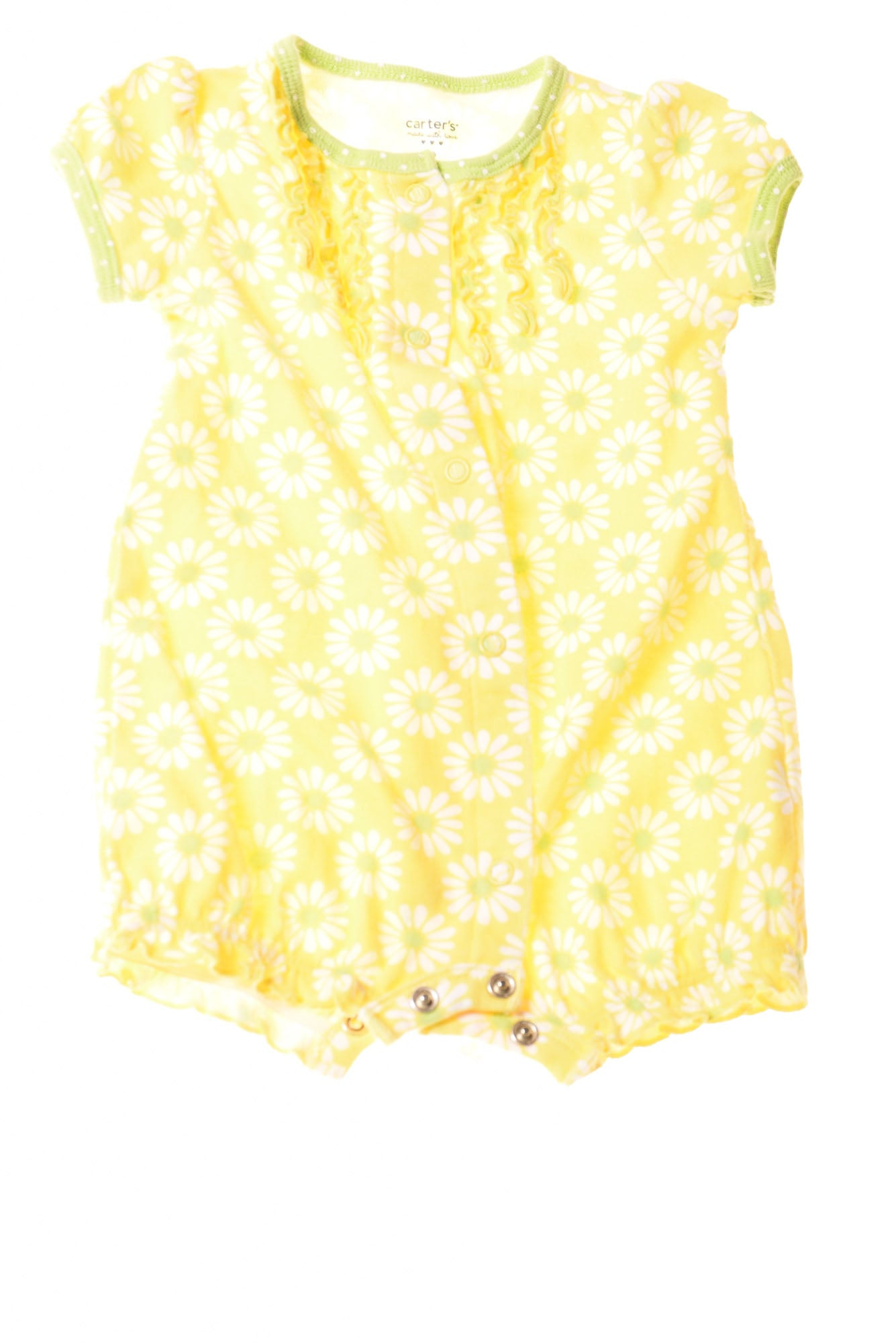 1e2a6ed2ad USED Carter's Baby Girl's Romper 3 Months Yellow / Floral - Village ...