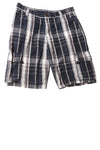 USED Wrangler Boy's Shorts 14 Blue / Plaid