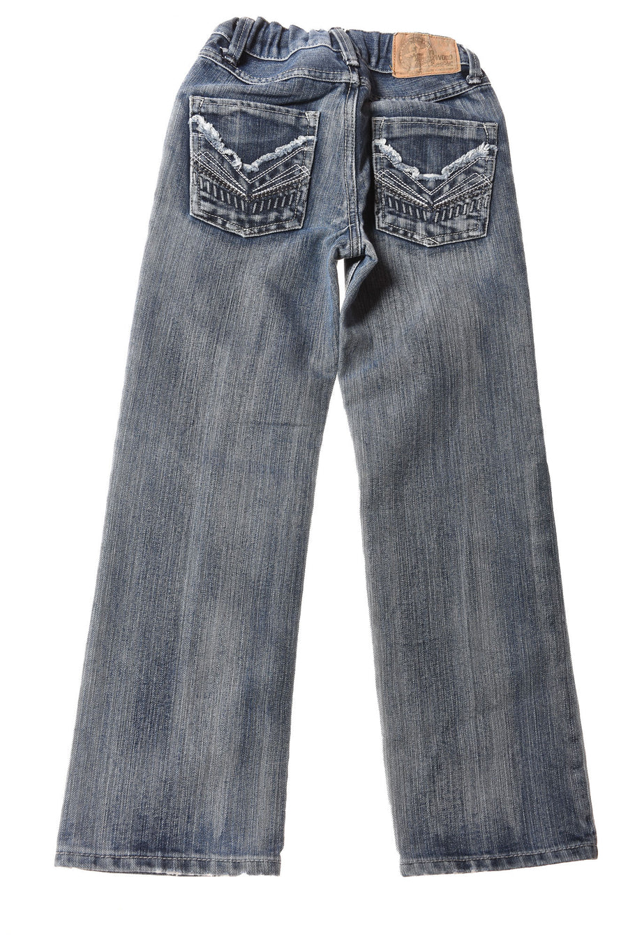 USED Hollywood Girl's Jeans 10 Blue