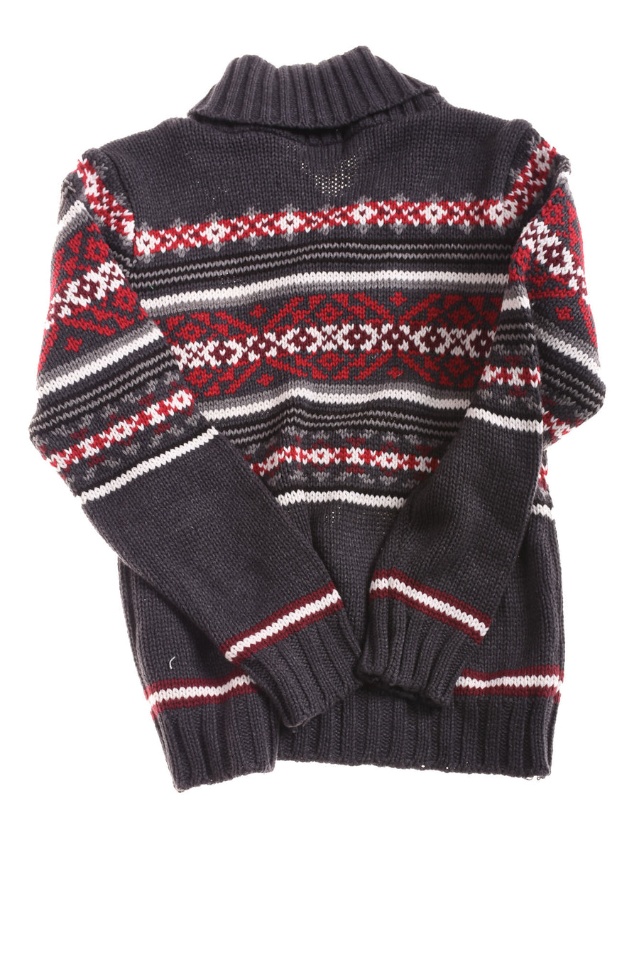 NEW The Children's Place Boy's Sweater 7/8 Gray, Red, & White
