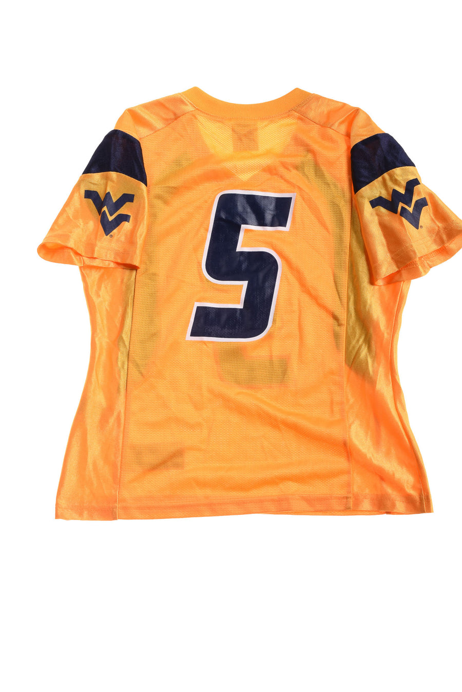 USED Nike Women's West Virginia Mountaineers Jersey Yellow & Blue X-Small