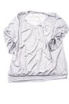 USED Fashion Bug Women's Shirt X-Large Silver & Gray