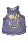 USED Nirvana Women's Shirt Medium Blue