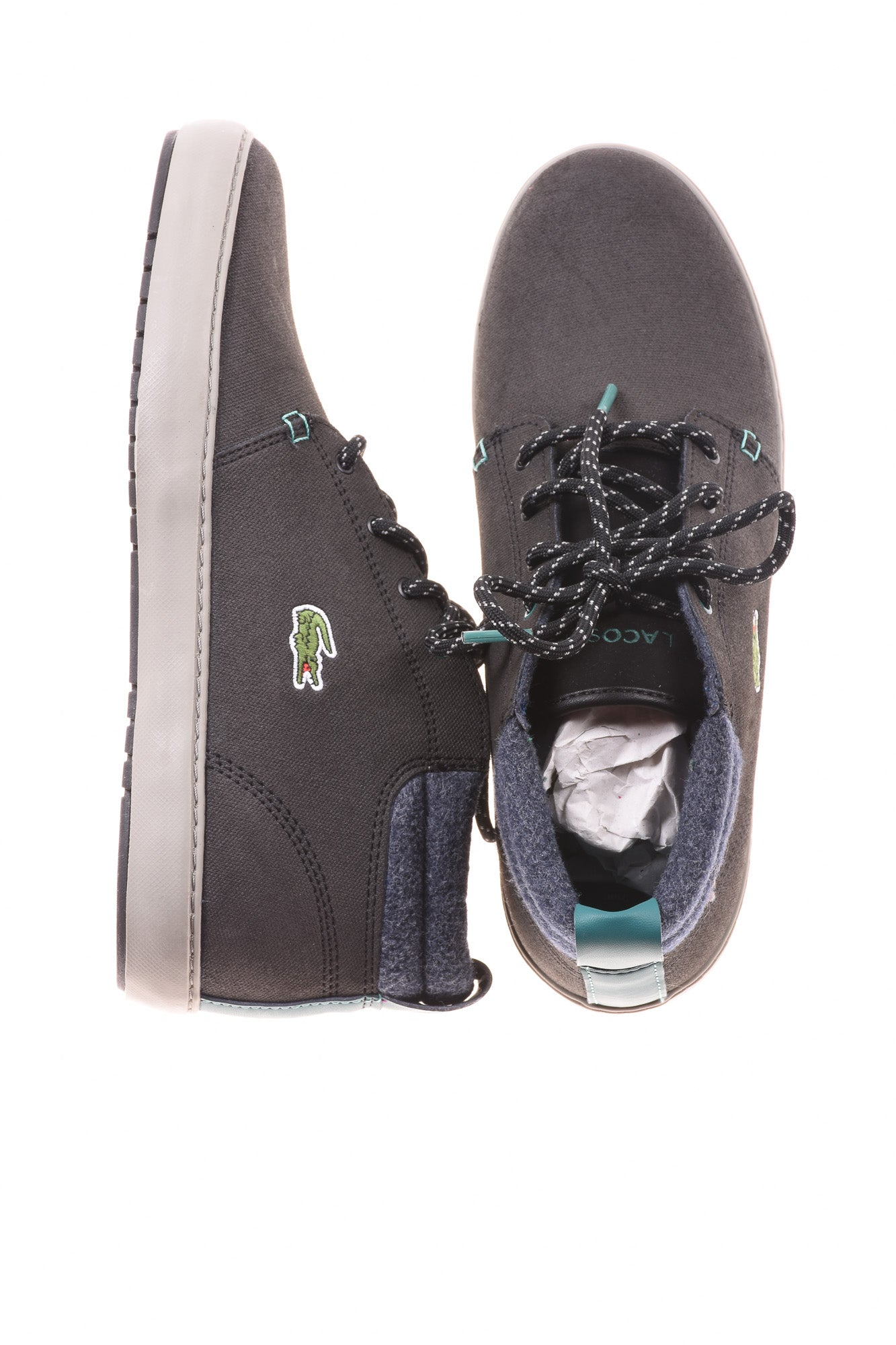 662084761 USED Lacoste Women s Shoes 8 Gray - Village Discount Outlet