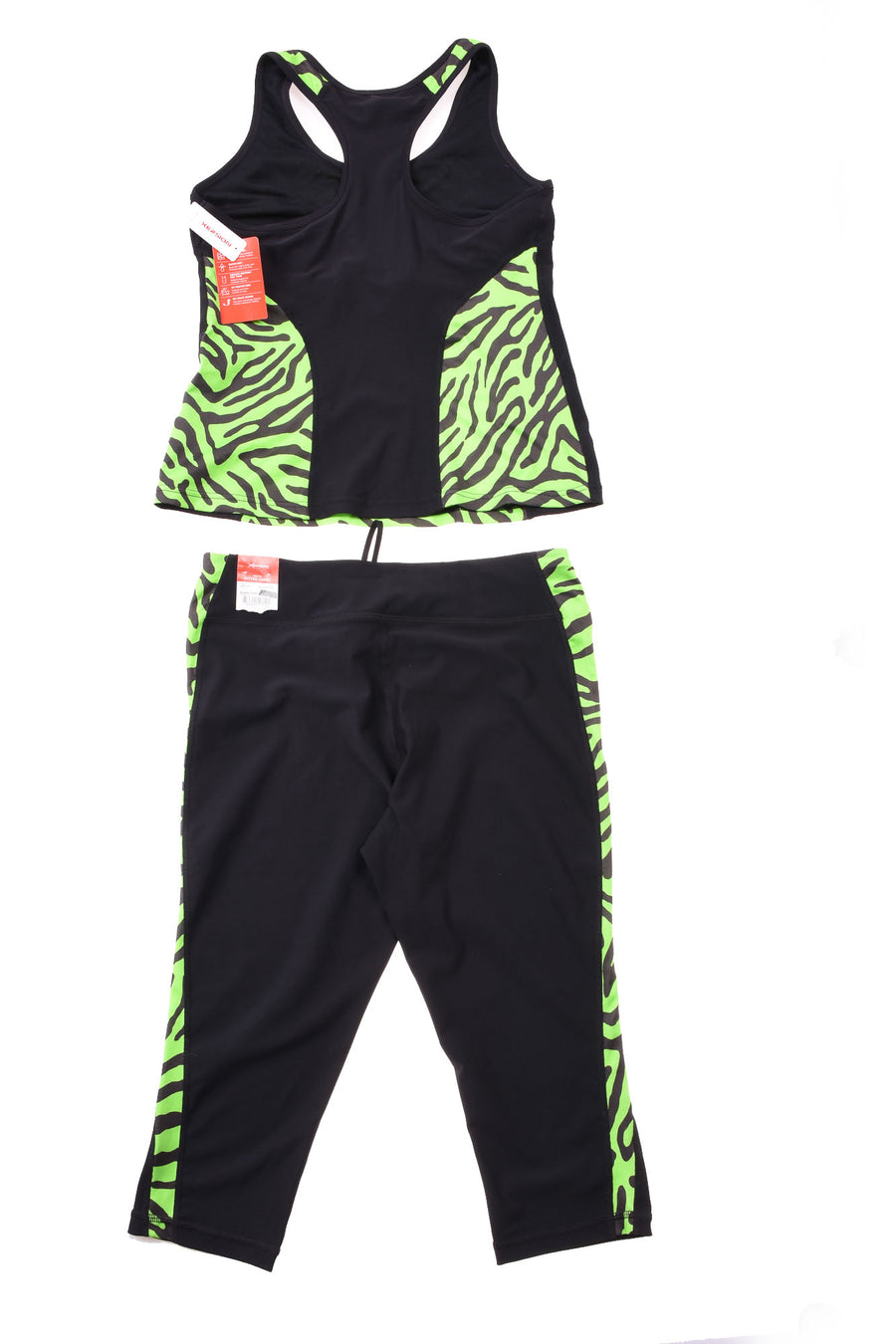 NEW Xersion Women's Athletic Set Large Black & Green