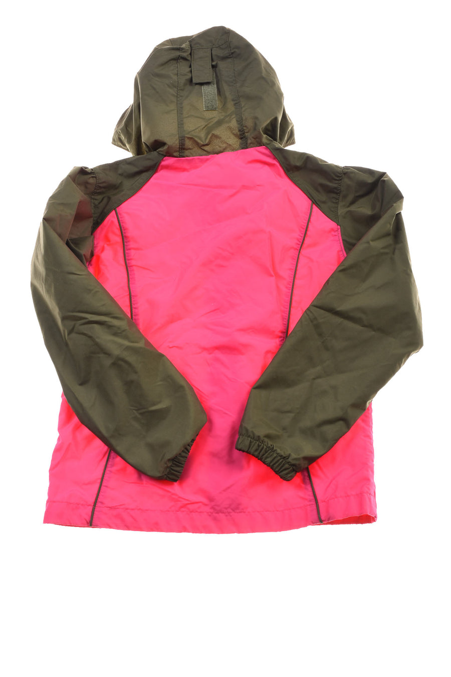 USED Columbia Girl's Jacket 10/12 Green & Pink