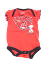 USED Team Athletics Baby Girl's One Piece 0-3 Months Red