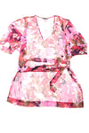 USED Tommy Bahama Women's Swimsuit Cover Up X-Small Pink, Blue, Purple, & Brown
