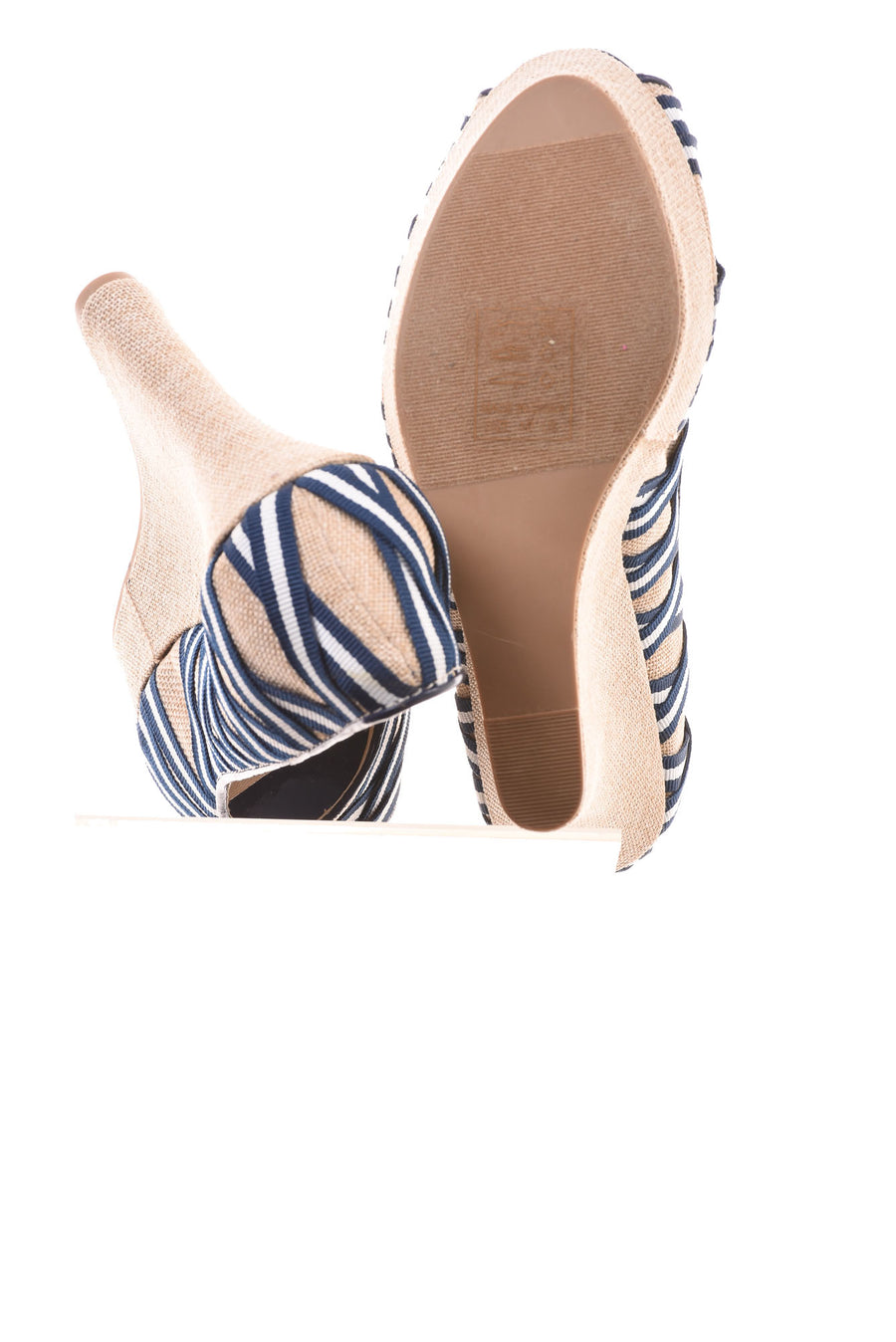 USED Shoe Dazzle Women's Shoes 10 Blue & White