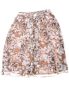 USED Ellen Tracy Women's Skirt 14 Brown & White