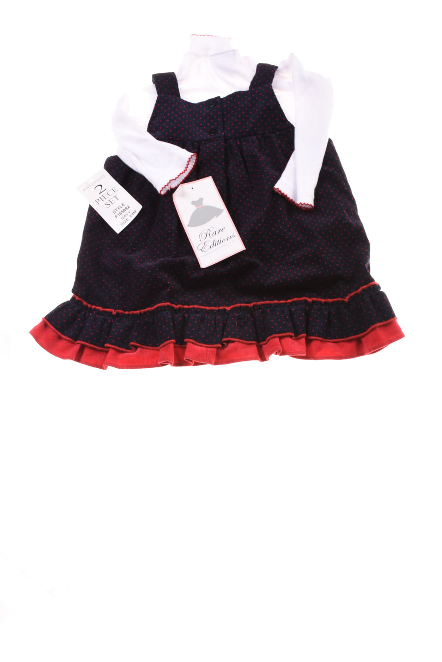 NEW Rare Editions Baby Girl's Dress 24 Months Blue