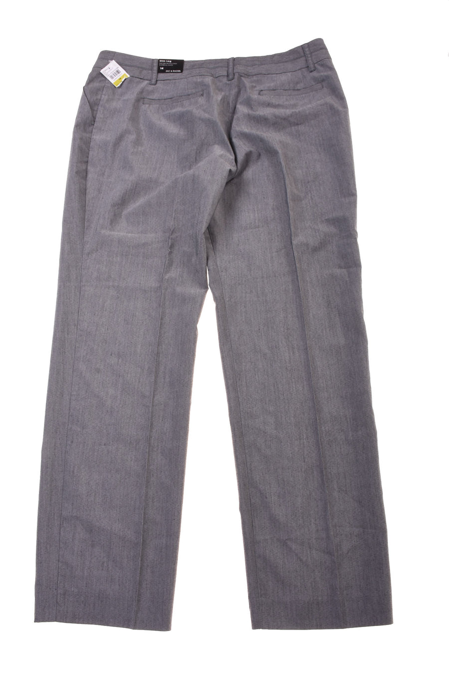 NEW Zac & Rachel Women's Slacks 14 Gray