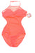 NEW Op Women's Swimsuit Small Coral