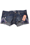 NEW Mudd Women's Plus Shorts 15 Blue