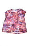 USED Simply Vera Women's Top X-Large Red, Purple, Blue, & Orange
