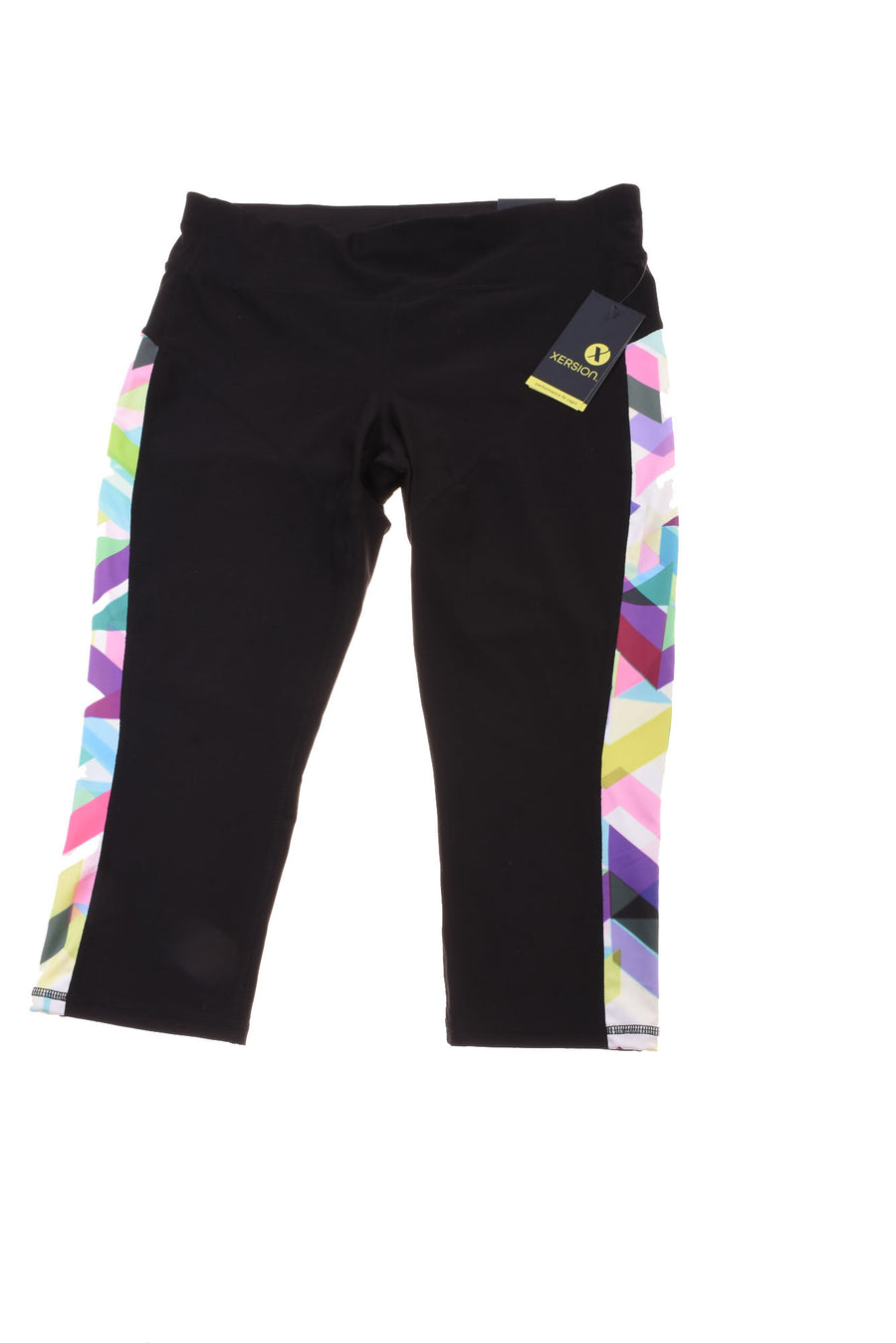 3d928d57402eb USED Xersion Women's Yoga Pants Medium Black & White/Print - Village ...