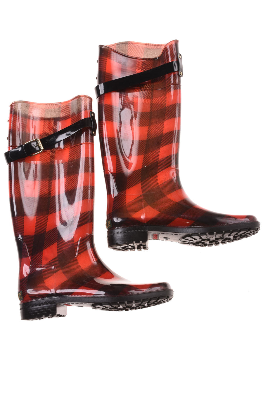 USED Lauren Ralph Lauren Women's Boots 8 Red & Black